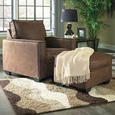 signature design by ashley terrington faux leather chair u0026 ottoman