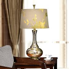 shabby chic lamps and silver color glass fixture