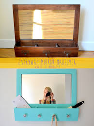 entryway mirror makeover
