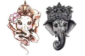 ganesha tattoo tribal tattoo temporary tattoo sleeve elephant