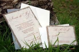 burlap wedding invitations invitations by alecia do it yourself d i y simple rustic burlap