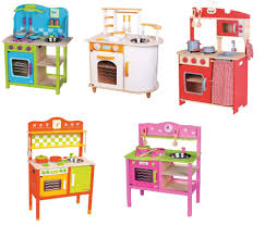 Pretend Kitchen Furniture Lelin Wooden Wood Childrens Kids Pretend Play Saffron Kitchen