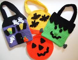 trick or treat bags no pattern just picture holiday crochet