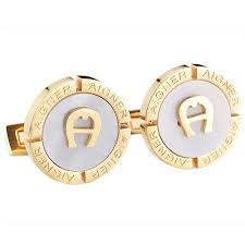 aigner earrings best quality replica men s aigner fashionable white and gold