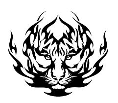 tiger black and white search tattoos