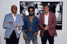 lenny kravitz exhibits flash at leica gallery in the design district