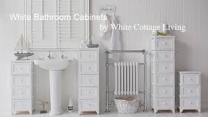 Slim Bathroom Cabinet Free Standing Slim Bathroom Cabinet With 5 Drawers White Cottage