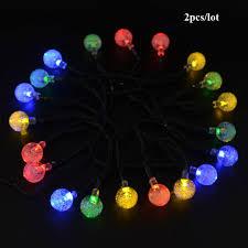 Ball Solar Lights - 2pcs 20 led string lights outdoor white multi ball solar light led