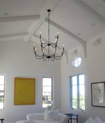 pole barn home spaces mediterranean with interior lighting white