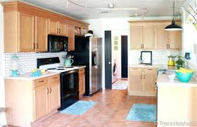 modernizing oak kitchen cabinets updating oak cabinet without painting final kitchen makeover reveal