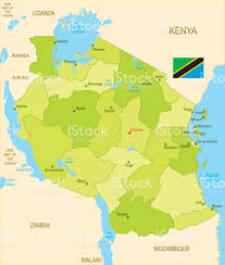 Tanzanian Flag Flat Map Of Tanzania With Flag Stock Vector Art 828668540 Istock