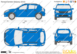 renault stepway 2011 the blueprints com vector drawing renault sandero stepway