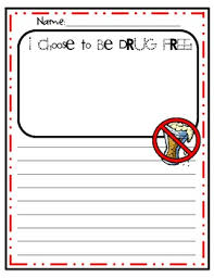 i choose to be drug free red ribbon week writing activity tpt