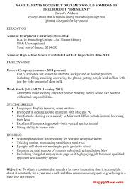 100 resume college degree job resume examples for college