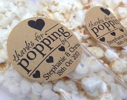popcorn wedding favors popcorn favors etsy