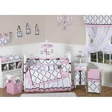 Lambs Ivy Duchess 9 Piece Crib Bedding Set by Black And Pink Crib Bedding