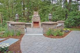 nh stone work and landscape outdoor fireplace nowak landscape