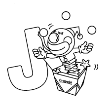 introducing letter j coloring page for preschool pages with