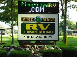Birch Run Michigan Map by Pine Ridge Rv Campground Home