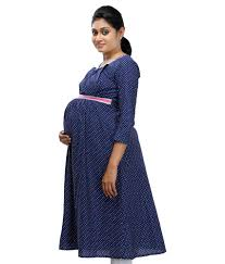 maternity wear buy ziva maternity wear navy cotton kurtis online at best prices