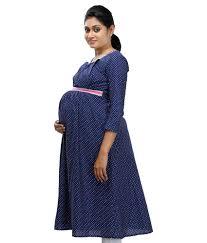 maternity wear online buy ziva maternity wear navy cotton kurtis online at best prices