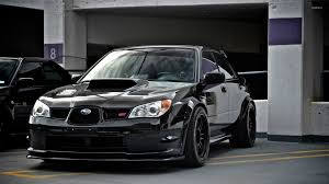 subaru rsti wallpaper black subaru impreza wrx sti in the parking lot wallpaper car