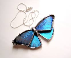 butterfly jewelry necklace images Real blue morpho butterfly necklace jpg