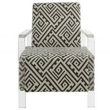 Grey And White Accent Chair Valentina Fabric Accent Chair With Arms In Grey White Mysleep