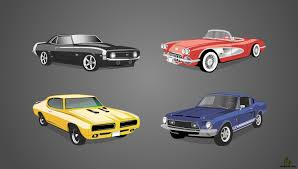 classic cars clip art set of classic american cars free vector u0026 clipart design