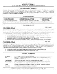 Sample Core Competencies For Resume by Chief Enterprise Architect Resume Template With Technical