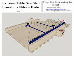 table saw reviews fine woodworking plans for the extreme crosscut miter dado table saw sled king s
