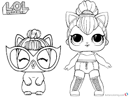 coloring page of a kitty lol coloring pages kitty queen free printable coloring pages
