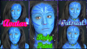 body painting halloween costumes neytiri avatar body paint and makeup cosplay tutorial