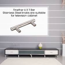 6pcs t bar stainless steel kitchen cupboard door handles drawer