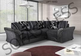 Corner Sofa Ebay Dolcetto Leather U0026 Chenille Fabric Corner Sofa U2013 Sofas4less