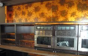 Copper Backsplash Copper Kitchen Backsplash - Bamboo backsplash
