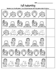 fall ab patterning worksheet preschool worksheets