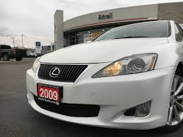 white lexus 2009 used 2009 lexus is 250 4 door car in brampton on 8223a