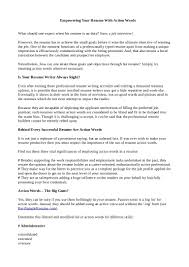 Best Words For Resumes by Active Words For Resume Writing Virtren Com