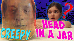 Head In A Jar Halloween Costume by Toy Freaks Diy Scary Challenge Baby Victoria Pranks Head In