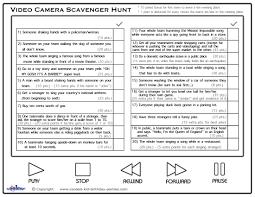 printable video scavenger hunt list coolest free printables