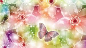 flowers shining butterflies flowers glow summer spring shine