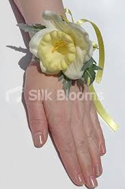 wedding wrist corsage yellow daffodil kids wedding wrist corsage w