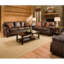 brown leather living room sets classic traditional brown 2 piece living room set shiloh rc