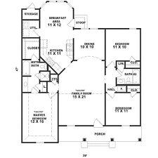 southern style house plan 3 beds 2 00 baths 1437 sq ft plan 81 222