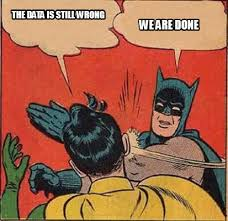 We Are Done Meme - meme creator the data is still wrong we are done meme generator at
