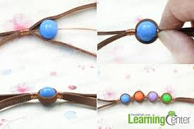 bracelet cord beads images How to make embedded suede cord bracelet with acrylic beads jpg
