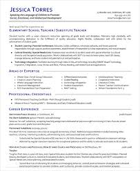 Resume For Teachers Example by Substitute Teacher Resume Example 5 Free Word Pdf Documents
