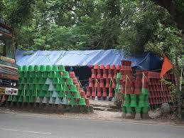 file colored flower pot on sale at road side in kerala 5409 jpg