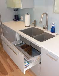 organized kitchen sink drawer tip down cabinet sink tray from